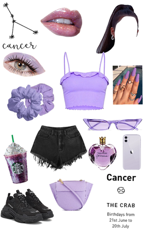 outfit cancer purple
