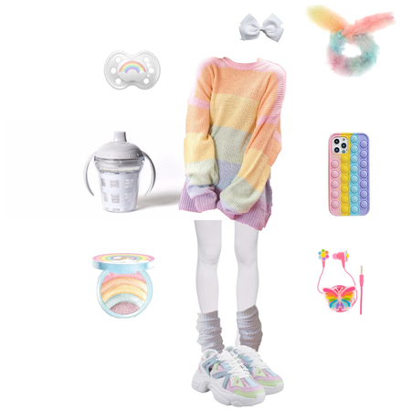 agere/littlespace- pastel rainbow