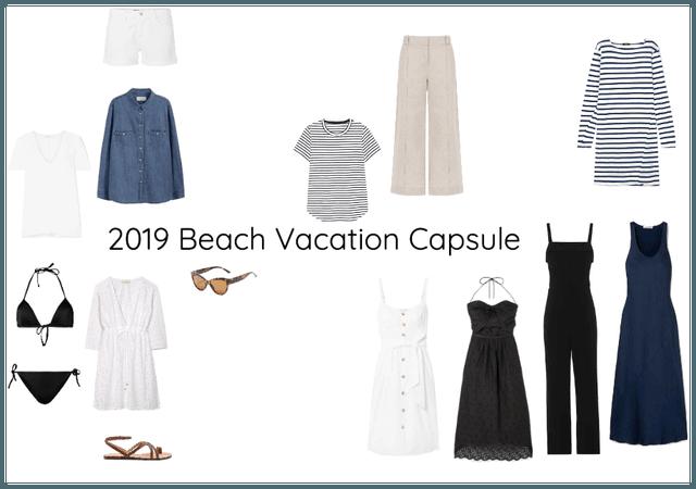 Beach Vacation Capsule Closet