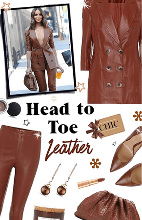 Chic in Head to Toe Leather