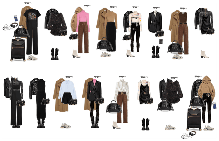 packing light winter outfits
