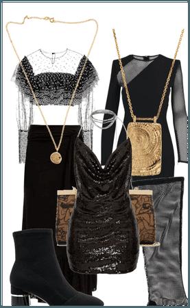 Dark rockish chick idol outfit