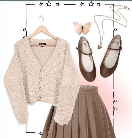 Mini Skirt Challenge - Pink+Brown