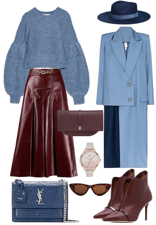 bordo/blue