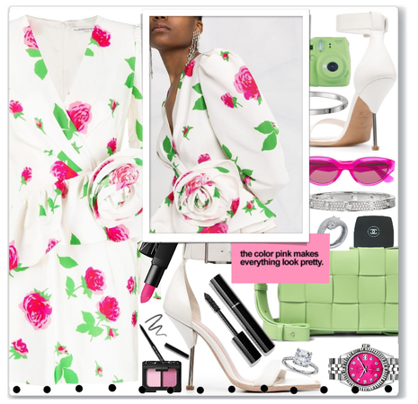 Alessandra Rich floral dress