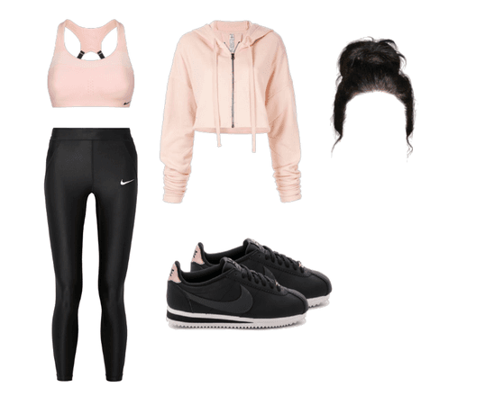 Rose-Gold Workout Outfit