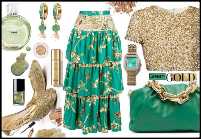 Green Gold Skirt