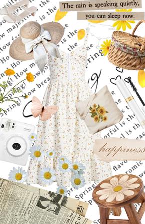 Spring, sundress, picnic
