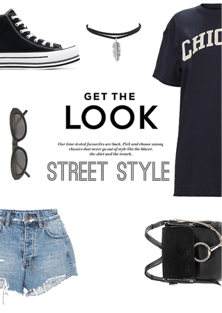 Black street look