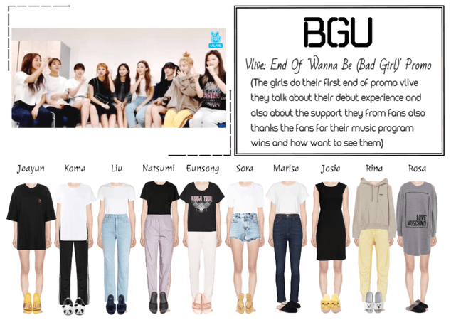 BGU Vlive: End Of 'Wanna Be (Bad Girl)' Promo