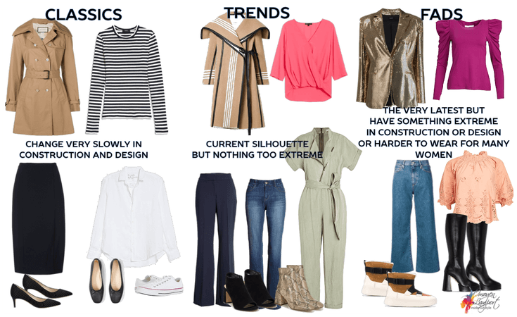 classics, trends and fads