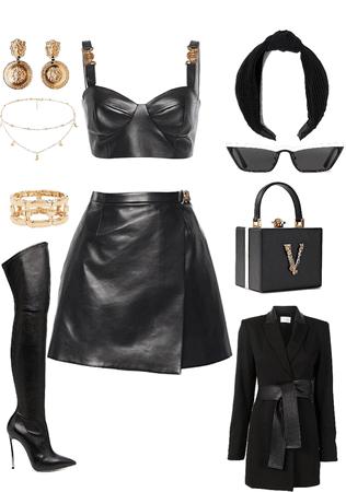 alll leather black