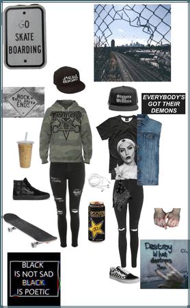 Alternative skater outfit