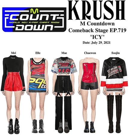 "KRUSH M COUNTDOWN Comeback Stage ""ICY"""