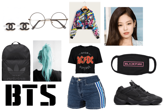 BTS 8th Member Airport Outfit Female Ver #2