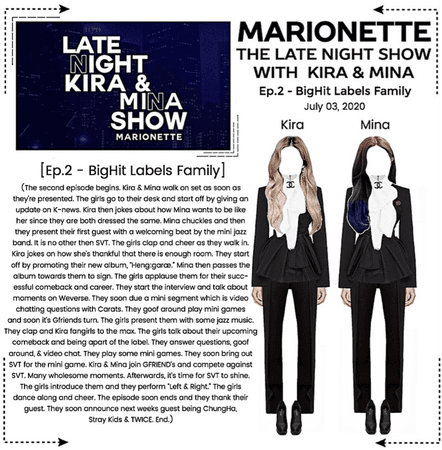 MARIONETTE (마리오네트) The Late Night Show with Kira & Mina
