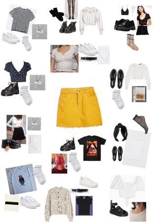 12 ways to wear a yellow mini skirt