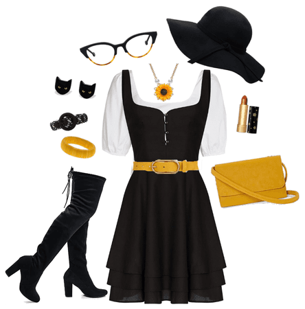 Casual Black and gold