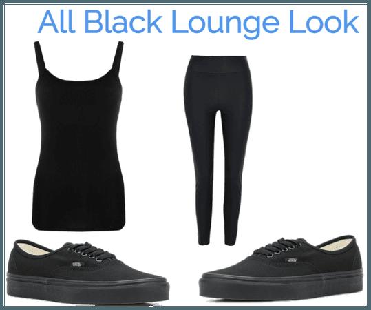 All Black Lounge Look
