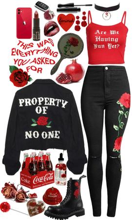 Black Demin & Roses