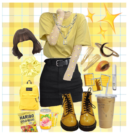Yellow aesthetic outfit