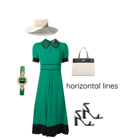 Horizontal lines in clothing