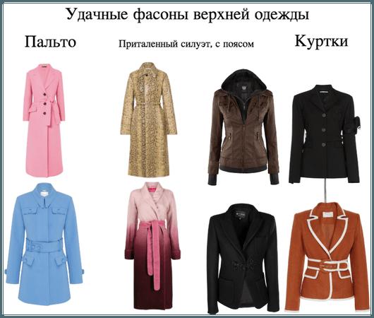 Удачные фасоны верхней одежды