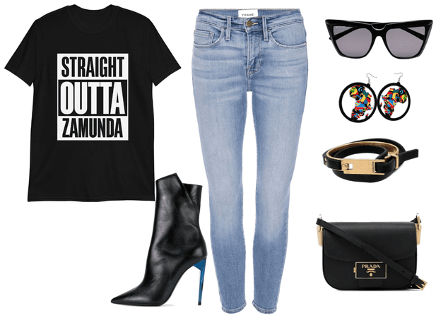 Straight Outta... Tee Shirts with African access
