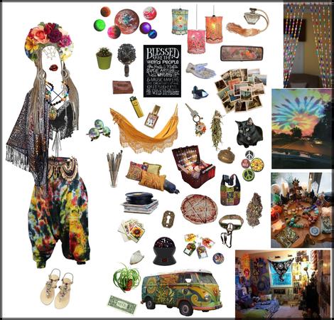 Faded Rainbow : Goth-hippie Witch