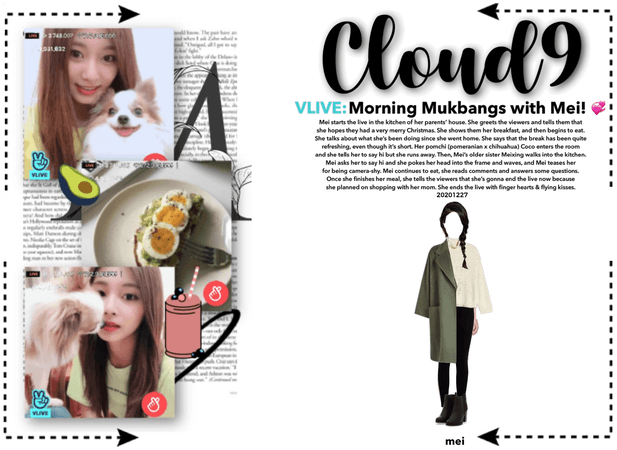 Cloud9 (구름아홉)   VLIVE: Morning Mukbangs with Mei!