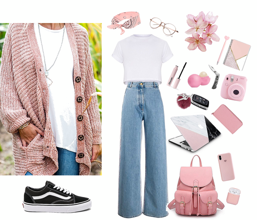 comfy pink travel outfit