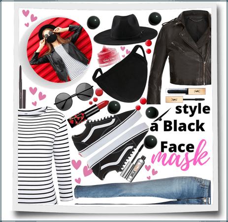 Style a Black Face Mask