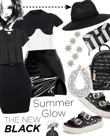 summer glow in black
