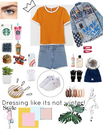#dressin like it's not winta😐🤗