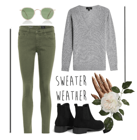Green & Grey Sweater Weather