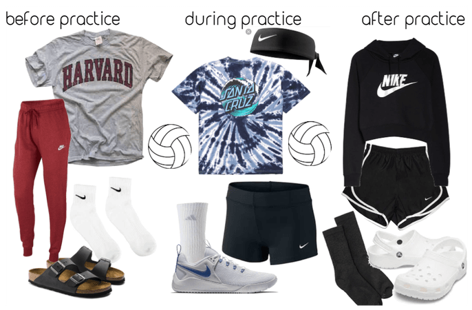 Volleyball practice clothes