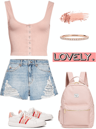 simple pink outfit