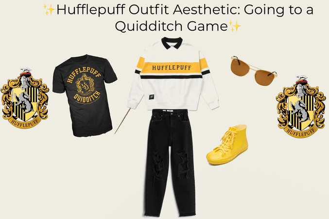 Hufflepuff Outfit Aesthetic: Going to a Quidditch Game