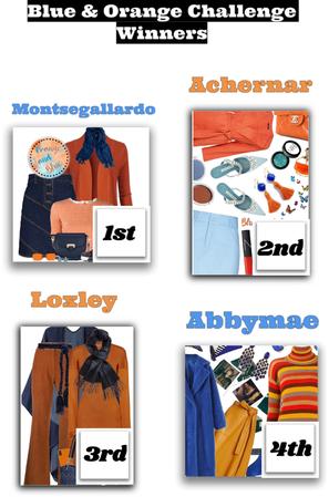blue and orange challenge winners