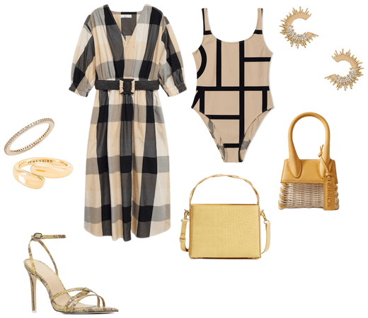 simply chic look for the beach