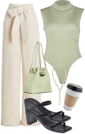 sage green body suit