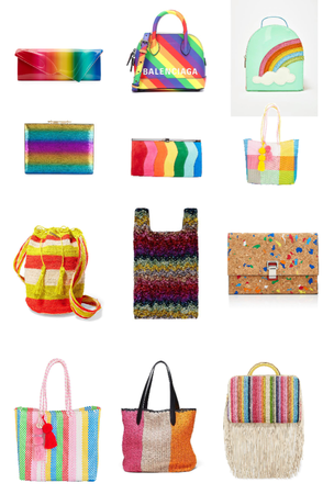 womens rainbow bags