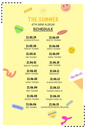 AESTHETIC (미적) 'THE SUMMER' Schedule