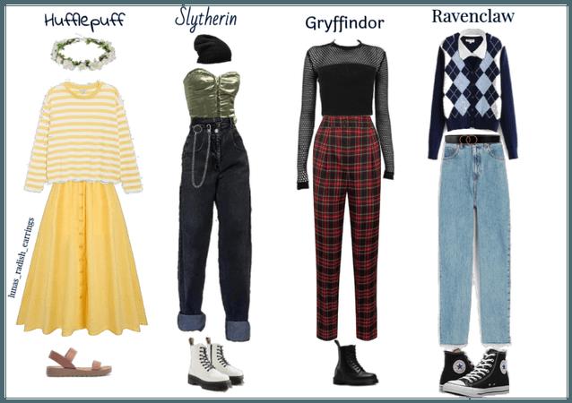 hogwarts houses as outfits !