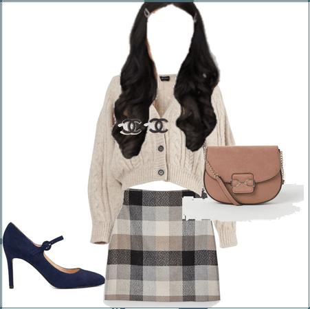 Clique Fall Navy, Peach, & Cremé Outfit