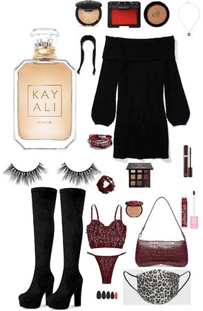 dark red and black fit