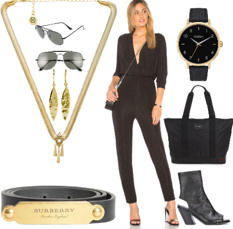 Black and Gold Outfit!
