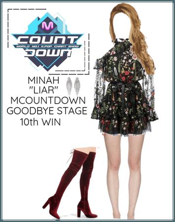 """Minah - """"LIAR"""" MCOUNTDOWN & Goodbye Stage"""