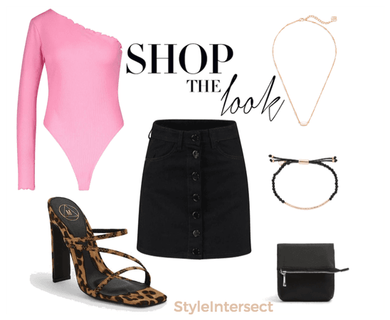 black denim skirt styleoftheweek