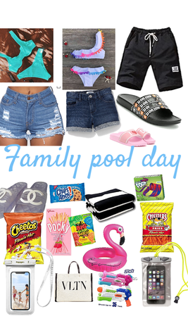family pool 🏊♀️ day!!!